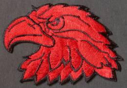 Patch Rouge Thermocollant / ECUSSON TETE D´AIGLE RAPACE OISEAU  FAUCON  Patche à Coudre  PORT OFFERT - Birds