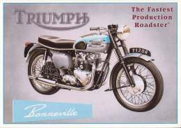 * * TRIUMPH * * Bonneville ( Carte Non écrite ) - Motos
