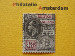 British Guiana 1914, GEORGE V: Mi 135, SG 266, Ø - British Guiana (...-1966)