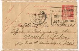 LES TELEGRAMMES URGENTS SONT LES PLUS RAPIDES, Lyon Les Terreaux Rhone Sur Carte Lettre Paix. L2 - Kartenbriefe