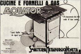 SMALTERIA METALLURGICA VENETA BASSANO DEL GRAPPA CUCINE E FORNELLI A GAS   1939 PUBBLICITA´ RITAGLIATA DA GIORNALE - Immagine Tagliata