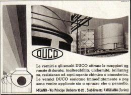 VERNICI E SMALTI DUCO STAB. AVIGLIANA (TO)  1939 PUBBLICITA´ RITAGLIATA DA GIORNALE - Immagine Tagliata