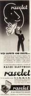 RASOI ELETTRICI RASALET E' UN PRODOTTO DUCATI BOLOGNA 1939 PUBBLICITA´ RITAGLIATA DA GIORNALE - Immagine Tagliata