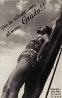 PER LA VILEGGIATURA AL MARE: GRADO  1939 PUBBLICITA´ RITAGLIATA DA GIORNALE - Immagine Tagliata