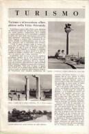 TURISMO E ATTREZZATURA ALBERGHIERA NELLA LIBIA ORIENTALE   1939 ARTICOLO  RITAGLIATO DA GIORNALE - Immagine Tagliata