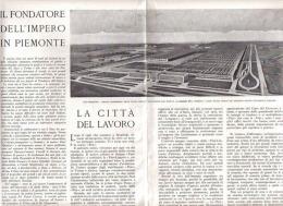 LA CITTA' DEL LAVORO: LA NUOVA FIAT 1939 ARTICOLO  RITAGLIATO DA GIORNALE - Immagine Tagliata
