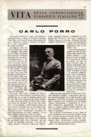 GENERALE D'ARMATA CARLO PORRO 1939 ARTICOLO  RITAGLIATO DA GIORNALE - Immagine Tagliata