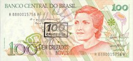Brasil 100 Cruzados  (1990) Pick 224 UNC - Brazil