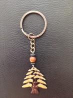 Key Holder Lebanon Souvenir Cedar Metal, Key Chain - Key-rings
