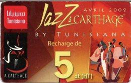 @+ Tunisie - Carte Tunisiana - Jazz à Carthage - 5 Dinars - Tunisie