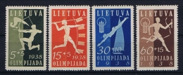 Lietuva 1938 Mi Nr 417 - 420  MH/* - Lithuania