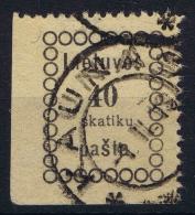 Lietuva 1918 Mi Nr 7 Used Corner Piece - Lithuania