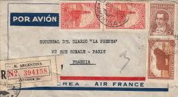 Lettre AIR FRANCE, Argentine Pour Paris Recommandé 1936 - Covers & Documents