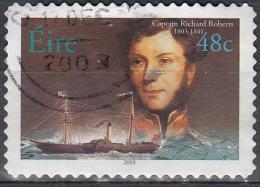 Irlanda, 2003 - 48c Captain Richard Roberts - Nr.1509 Usato° - 1949-... Repubblica D'Irlanda