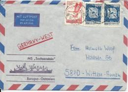 "CHINA (TAÏWAN) - 1972 - ENVELOPPE POSTEE à BORD Du NAVIRE ""SACHSENSTEIN"" - LIGNE EUROPA - ASIE ORIENTALE - Covers & Documents"