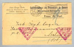 Motiv Kriegsgefangenenpost Serbien Rotkreuz-Scekack1918-07-28 - 1919-1929 Royaume Des Serbes, Croates & Slovènes