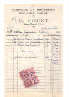 Fabrique De Brosserie Spécialié De Lavettes Et Garde Robes E. FOUET à Saint Benoit (86) Du 5 Mai 1950 - Old Professions