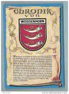 WEISSENHORN  ---- BLASON --   R 895 - Weissenhorn