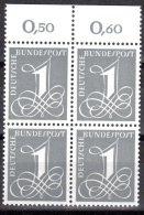 Bund 1955 Mi. 226 y ** Viererblock Postfrisch (p�1191)