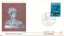SAINT-MARIN. N°1075 De 1983 Sur Enveloppe 1er Jour. Bathyscaphe. - Europa-CEPT