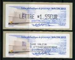 LISA 1,55e   SALON PHILATELIQUE DE PRINTEMPS  MACON 2013  NEUVE ** - 2010-... Geïllustreerde Frankeervignetten