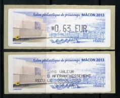 LISA 0,63e LETTRE PRIORITAIRE 20 Gr SALON PHILATELIQUE DE PRINTEMPS  MACON 2013  NEUVE ** - 2010-... Geïllustreerde Frankeervignetten