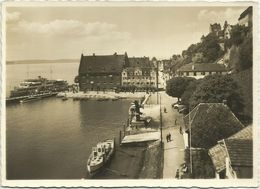 AK Meersburg Hafen Hotel Seehof + MS Deutschland ~1940 #2322 - Meersburg