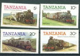 Tansania, 1985, 268/71, Lokomotiven, Trains ** - Tansania (1964-...)