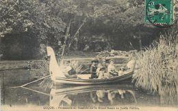 85 LUCON PROMENADE EN GONDOLE SUR LE GRAND BASSIN   LA PETITE VENISE CARTE VOYAGE  EN 1910 - Lucon