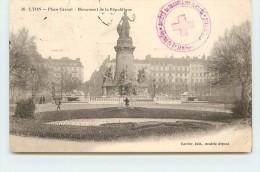 CACHET - Hôpital  Du Grand Séminaire;Société De Secours Au Blessés; Lyon. - Marcophilie (Lettres)
