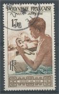 French Polynesia, Engraver On Nacre, 1958, VFU  Airmail - Poste Aérienne
