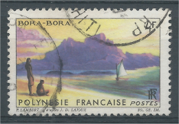 French Polynesia, A View Of Bora Bora, 1964, VFU - French Polynesia