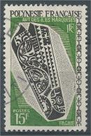 French Polynesia, Old Paddle, Marquesas Islands, 1968, VFU - French Polynesia