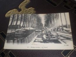 Carte Postale Noisy Le Sec Le Canal Dechargement D'une Péniche Ouvrier - Artisanat