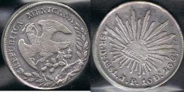 MEXICO 8 REALES DURANGO 1881 PLATA SILVER - México