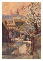 POSTCARDS Jaroslav Setelik (1881-1955) Praha 022: The Backyard In Lesser Town (reprint) - Illustrateurs & Photographes