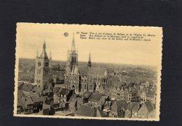 """54489    Belgio,    Ypres,    Vue A Vol D""""oiseau Du Beffroi Et De L""""Eglise St. Martin,  NV - Ieper"""