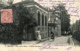 C3603 Cpa 92 Bellevue - Rue Louis Blanc, Cr^che Ste Marie - Francia
