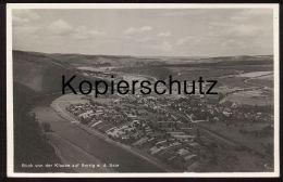 ALTE POSTKARTE SERRIG AN DER SAAR BLICK VON DER KLAUSE Mit Eisenbahn Railway Bahnhof Bei Saarburg Trier - Saarburg