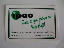 Drink Torrefaction Coffee/Caf�/Caffe IPAC  Portuguese Pocket Calendar 1993