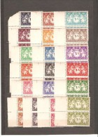 GUYANE  NEUF **MNH LUXE N °182/200 SERIE DE LONDRE   BORD DE FEUILLE  EN PAIRE - Unused Stamps