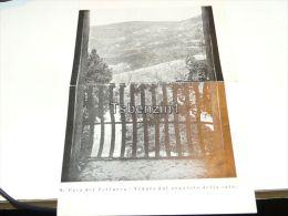 Arqua Casa Del Petrarca Veduta Dal Poggiolo Della Sala Italy Old Paper Cut - Colecciones