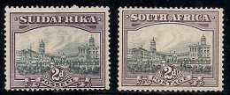 SOUTH AFRICA UNION, 1927, Mint  Hinged Stamp(s), (no Glue) Union Building Loose Nrs. 29-30, # 208 - South Africa (...-1961)