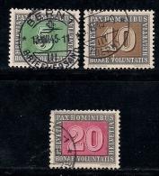 SWITZERLAND 1945 Used Stamp(s) Pax Europa 3 Values Only Between 447-453 #3687 - Switzerland