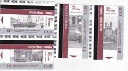 Italy , Roma   , Metro - bus  - autobus tickets  , 2015