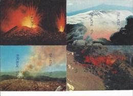 4 CPM - VOLCANS - Volcan - ETNA, IL VESUVIO, Eruption Et Coulée De Lave - Sonstige