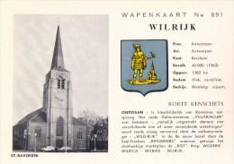 Wapenkaart Nr 891 Wilrijk St Bavokerk ( Met Wapenschild ) - Antwerpen
