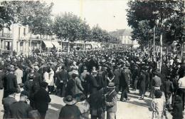 BERGERAC CARTE PHOTO 1938 DEFILE DES POMPIERS PHOTO BONDIER VOIR LES DEUX SCANS - Bergerac