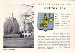Wapenkaart Nr 743 Sint Niklaas Kasteel Walburg ( Met Wapenschild ) - Sint-Niklaas