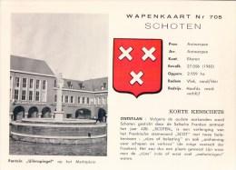 Wapenkaart Nr 705 Schoten Fontein Uilenspiegel Op Het Marktplein ( Met Wapenschild ) - Schoten
